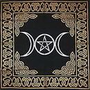 AzureGreen RAT24 Triple Moon Pentagram altar/tarot