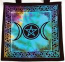 AzureGreen RB74TMP Triple Moon Pentagram Tote Bag