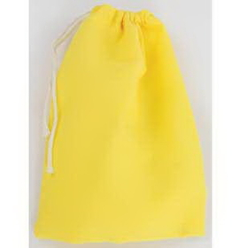 "AzureGreen Yellow Cotton Bag 3"" x 4"""