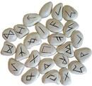 AzureGreen RRWHIR White Resin rune set