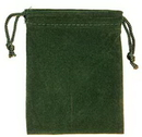 AzureGreen RV34GR Bag Velveteen: 3 x 4 Green