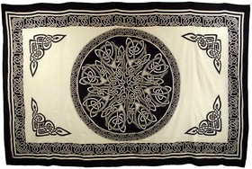 "AzureGreen Ancient Celtic Knot 72"" x 108"" tapestry"