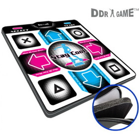 DDR Game Dance Dance Revolution Super Deluxe Dance Pad with 1 Inch Foam Inserts Version 4.0 for PS/PS2