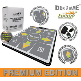 DDR Game Dance Dance Revolution Energy Premium Edition Super Deluxe Dance Pad for PS/PS2, Xbox and PC