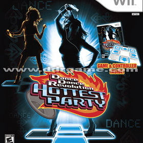 DDR Game Dance Dance Revolution DDR Hottest Party Original Bundle for Nintendo Wii (Game + Dance Pad)