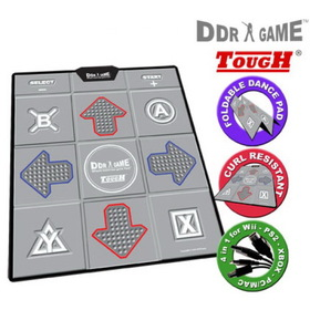 DDR Game Dance Dance Revolution Tough Curl Resistant Groove Texture Non-Slip Dance Platform for PS/PS2, Wii, Xbox and PC