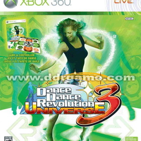 DDR Game Dance Dance Revolution DDR Universe 3 Original Bundle for Xbox 360 (Game + Dance Pad)