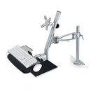 Ziotek Adjustable LCD Keyboard Combo Mount,  Desk Clamp ZT1110243