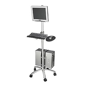 Ziotek Aluminum Mobile Computing Workstation Cart ZT1110375