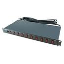 A-Neutronics 10 Outlet 1U Rack Mount PDU w/Individual Switches MLSL-11510