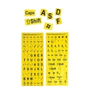 The Keyboard Large Print Keyboard Stickers, Yellow/Black 51102-YEL