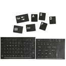 The Keyboard Alphanumeric Replacement Keyboard Stickers, Black/White 51101-BLK