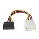 Alpha Omega Serial ATA Power Cable 4-Pin Molex to 15-Pin SATA CB-SATA-PW