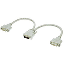 Generic 1211186 1ft. DVI-D Dual Link Male to DVI-D Female X 2 Split Cable, Beige