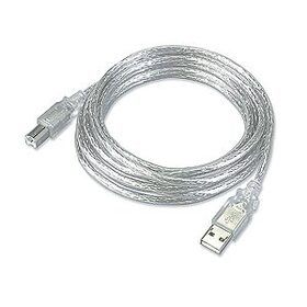 Ziotek 15ft. USB 2.0 Type A Male to Type B Male USB Cable, Clear ZT1311120