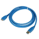 Generic 1311147 6ft. SuperSpeed USB 3.0 Type A Male to Micro B Male USB Cable, Blue