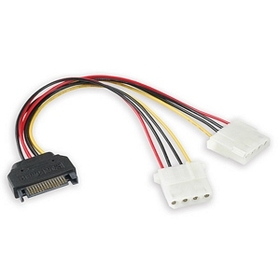 Generic 1480098 SATA to 4 Pin Molex Power Adapter Cable, 6in. 2M