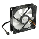 GELID Silent9 92mm Silent Case Fan, 3 Pin Molex, Black FN-SX09-15