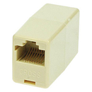 Generic 1800110 Modular 8P8C Inline Coupler, Reverse (Rolled) Ivory