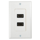 Generic 1800114 2 Port HDMI Wall Plate, White