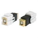 Generic 1800135 USB 2.0 Type B Female to B Female (BF-BF) Keystone Jack, White