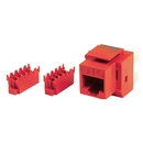 Generic 1800293 Cat5e 8P8C Keystone Panel Jack, Red