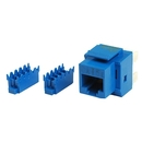 Generic 1800297 Cat5e 8P8C Keystone Panel Jack, Blue