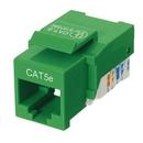 Ziotek RJ45 Cat5 / 5e Keystone Jack, Tool Free, Green ZT1800312