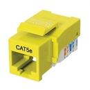 Ziotek RJ45 Cat5 / 5eKeystone Jack, Tool Free, Yellow ZT1800317