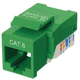 Ziotek CAT6 Network (RJ45) Keystone Jack, Tool-Free, Green ZT1800323