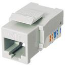 Ziotek CAT6 Network (RJ45) Keystone Jack, Tool-Free, White ZT1800326