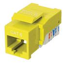 Ziotek CAT6 Network (RJ45) Keystone Jack, Tool-Free, Yellow ZT1800327