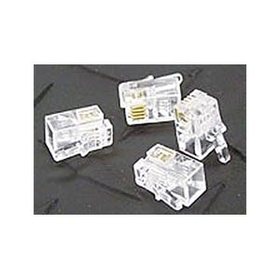 Ziotek RJ11 6P4C Modular Plug Connectors, Clear, 100 Pack ZT1800460