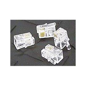Ziotek RJ11 6P4C Modular Plug Connectors, Clear, 100 Pack ZT1800460
