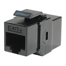 Ziotek RJ45 CAT5 / 5e In-Line Coupler Keystone Jack, Black ZT1800517