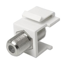 Ziotek Snap-In Coax Type F Coupler Keystone Jack, White ZT1800556