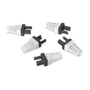 Platinum Tools Ez-RJ45 CAT6 Strain Reliefs 50 Pack Black 100030BK
