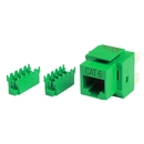 Generic 1800668 Cat6 8P8C Keystone Panel Jack, Green