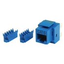 Generic 1800670 Cat6 8P8C Keystone Panel Jack, Blue