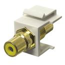 Generic 1800972 RCA Coupler Keystone Insert Jack, White/Yellow