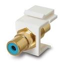 Generic 1800975 RCA Coupler Keystone Insert Jack, Blue / Gold
