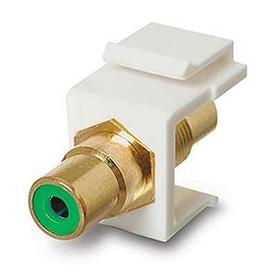 Generic 1800977 RCA Coupler Keystone Insert Jack, Green /  Gold