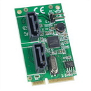 Mini PCI-e Card, 2 Port SATA 6G, non-RAID