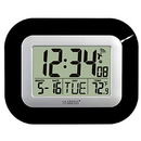 La Crosse Atomic Digital Wall Clock, Black WT-8005U-B