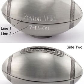 Engraved Gifts Direct 500535 Pewter Finish Football Bank