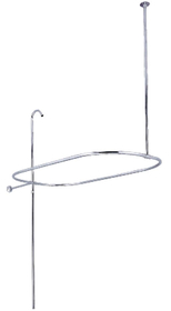 Kingston Brass CC10401 Shower Riser with Enclosure, Chrome