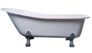 Elements of Design EATDE692823C1 69-inch Acrylic Tub with Constantine Lion Feet, White Finish with Chrome Feet