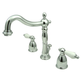 "Elements of Design EB1971PL Two Handle 8"" to 16"" Widespread Bathroom Faucet with Retail Pop-up, Polished Chrome"