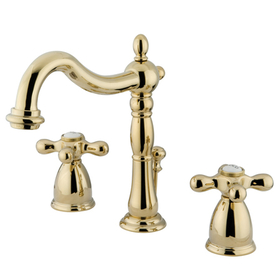 """Elements of Design EB1972AX Two Handle 8"""" to 16"""" Widespread Bathroom Faucet with Retail Pop-up, Polished Brass"""
