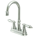 Elements of Design ES2491AL Two Handle Bar Faucet without Pop-Up Rod, Polished Chrome